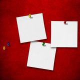 Notes on red background Royalty Free Stock Photos