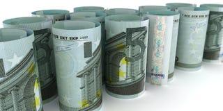 5 notes Rolls d'euro illustration de vecteur