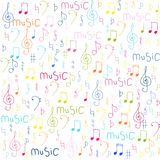 Notes seamless background. Music a colored seamless background Royalty Free Stock Images