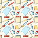 Notes seamless color pattern Stock Photos