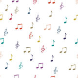 Notes. Seamless pattern background notes. Music notes, treble clef vector Royalty Free Stock Photos