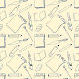 Notes seamless pattern Stock Photo