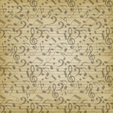Notes seamless pattern Stock Image