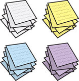 Notes Stacked Colors Royalty Free Stock Images