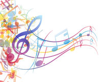 Notes staff. Vector musical notes staff background for design use Royalty Free Stock Images