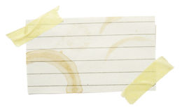 Notes with stains Stock Photos