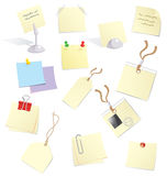 Notes and stickers. Stickers, notes and badges for office Stock Illustration