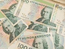 Notes suédoises de devise Photo libre de droits