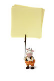 Notes support. Cow-shaped support for notes Stock Image