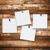 Notes sur le fond en bois de planche Image stock
