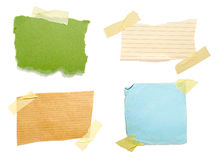 Notes with tape group Stock Image