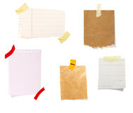 Notes with tape group Royalty Free Stock Photos