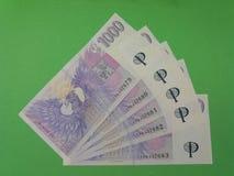 Notes tchèques de couronne, République Tchèque Images stock
