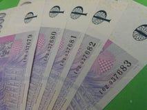 Notes tchèques de couronne, République Tchèque Photographie stock libre de droits