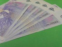 Notes tchèques de couronne, République Tchèque Image stock