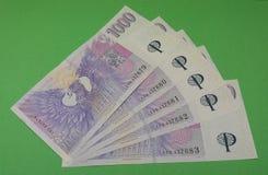 Notes tchèques de couronne, République Tchèque Photos stock
