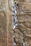 Notes to God in the Western Wall Royalty Free Stock Photos