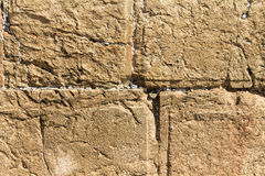 Notes to God in the Western Wall .  Jerusalem Royalty Free Stock Photo