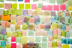 Notes to Steve Jobs Stock Image
