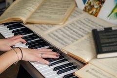 Notes toujours de piano de la vie photo stock