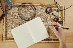 Notes in travel Royalty Free Stock Image