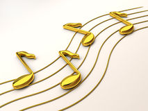 Notes a treble clef Royalty Free Stock Photography