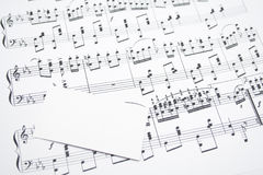 Notes and visit card. Modern musical notes and visit card stock image