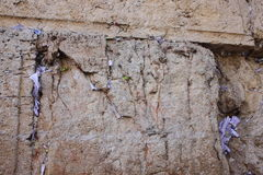 Notes at the Wailing Wall Stock Photography