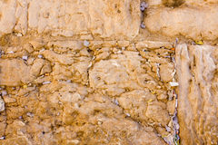 The notes in the Wailing Wall. Jerusalem, Israel Stock Image
