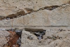 Notes in the Wailing Western Wall. Jerusalem royalty free stock photography