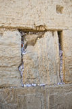 Notes in the Wailing Western Wall. Jerusalem Stock Photo