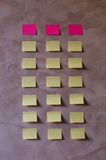 Notes on wall to make list. Memory card Stock Image