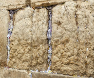 Notes in the Western wall. Wishing notes cracks at the Western wall royalty free stock images