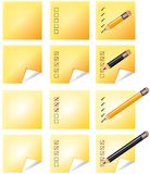 Notes whith pencil Royalty Free Stock Image