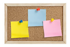 Notes With Pushpins Stock Photography