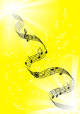 Notes on a yellow background Royalty Free Stock Images
