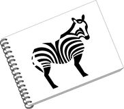 Notes with zebra 06 Stock Photo