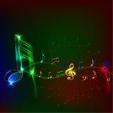 NotesAn de la música Fotografía de archivo libre de regalías
