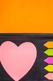 Notez la forme de coeur Image stock