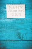 Notez la Saint-Valentin heureuse Photographie stock