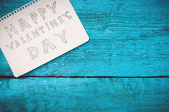 Notez la Saint-Valentin heureuse Image stock