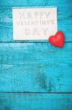 Notez la Saint-Valentin heureuse Images libres de droits