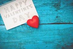 Notez la Saint-Valentin heureuse Images stock