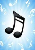 Notez le fond de musique Photo libre de droits