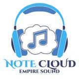 Notez le logo de nuage Bruit d'empire illustration libre de droits