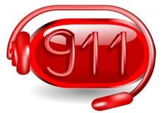 Notfall 911 lizenzfreie abbildung