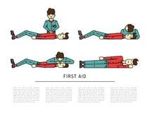 Notfall der ersten Hilfe Stockfoto