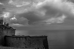 Nothe Dorset forte, Regno Unito Fotografie Stock Libere da Diritti