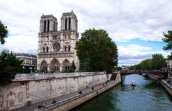 Nother dame de Paris Frankrike Arkivbild