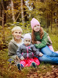 Nother with kids outdoor Royalty Free Stock Photography